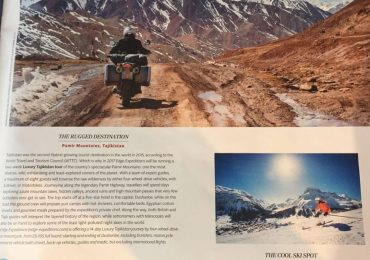 magazine pictures of bikers riding in tajikistan