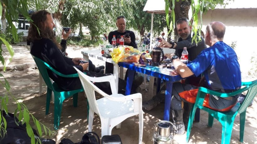 Lunch on the road to Khorog