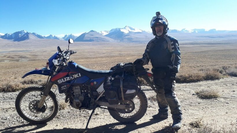 Rider with Great Pamir behind
