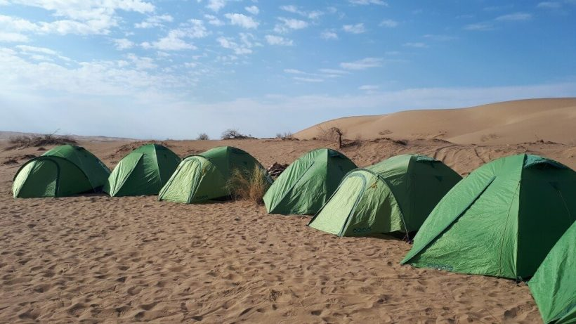 Tents in Iran Desert