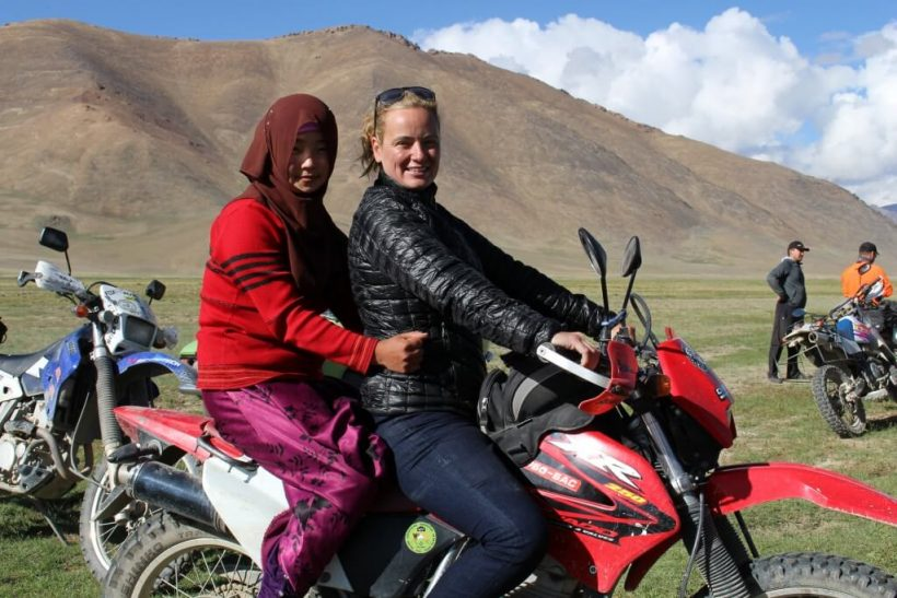 Women on Motorbike Tajikistan